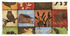 Seasons Lodge Beach Towel by Debbie DeWitt