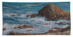 Seaspray Beach Sheet by Valerie Travers