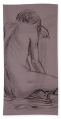 Seated Nude Beach Towel