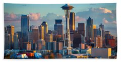 Seattle Afternoon Beach Towel