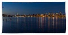 Seattle Blue Skyline Beach Towel