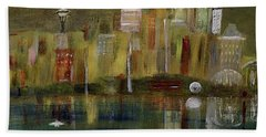 Seattle Cityscape Beach Towel by Dick Bourgault