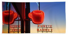 Seattle Coffee Beach Towel
