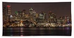 Seattle Lake Union Winter Reflection Beach Towel