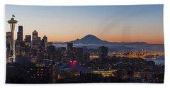 Seattle Morning Glow Beach Towel