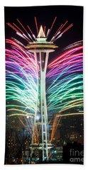 Seattle New Year Beach Towel