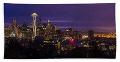 Seattle Pre Sunrise Wide Beach Towel