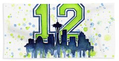 Seattle Seahawks 12th Man Art Beach Towel
