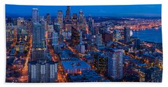 Seattle Skyline From The Space Needle Beach Towel