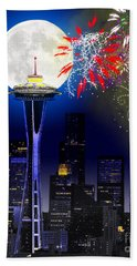 Seattle Skyline Beach Sheet