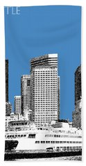 Seattle Skyline - Slate Beach Towel