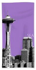 Seattle Skyline Space Needle - Violet Beach Towel