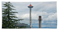 Seattle Spaceneedle Golden Anniversary Art Prints Beach Towel by Valerie Garner