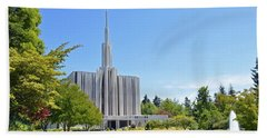 Seattle Temple - Horizontal Beach Towel