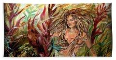 Seaweed Mermaid Pillow Beach Sheet