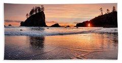 Second Beach Sunset Beach Towel