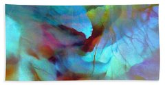 Secret Garden - Abstract Art Beach Towel by Jaison Cianelli