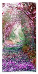 Secret Garden Beach Towel by Vicki Spindler
