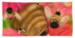 Secret Life Of Bees Beach Towel by Christine Fournier