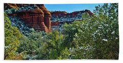 Beach Towel featuring the photograph Sedona Arizona - Wilderness Area by Bob and Nadine Johnston