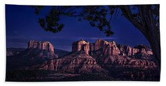 Sedona Cathedral Rock Post Sunset Glow Beach Towel