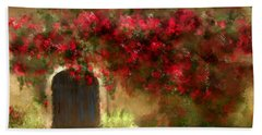 The Bougainvillea's Of Sedona Beach Towel by Colleen Taylor