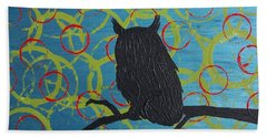 Beach Towel featuring the painting Seer by Jacqueline McReynolds