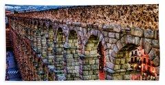 Segovia Aqueduct Spain By Diana Sainz Beach Sheet