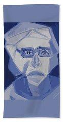 Self Portrait In Cubism Beach Towel