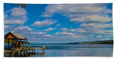 Seneca Lake At Glenora Point Beach Towel