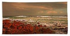 Sennen Storm Beach Sheet by Linsey Williams