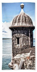 Sentry Box In El Morro Hdr Beach Towel