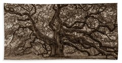 Sepia Angel Oak Beach Towel