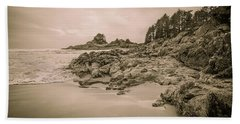 Cox Bay Sepia Beach Towel