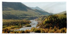 September Morning In Alaska Beach Towel by Denyse Duhaime
