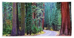 Sequoia Hwy Beach Towel
