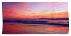 Serene Oceanside Glow Beach Towel