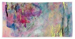 Serene Mist Encaustic Beach Towel