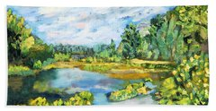 Serene Pond Beach Towel