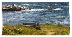 Serenity Bench Beach Towel
