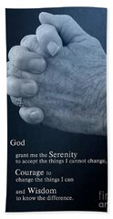 Serenity Prayer Finding Peace Beach Sheet