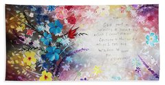 Serenity Prayer Beach Sheet by Patricia Lintner