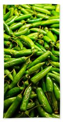 Serrano Peppers Beach Towel