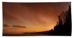 Set Fire To The Rain Beach Towel by James Peterson