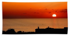 Set Into The Sea Beach Towel by Scott Carruthers