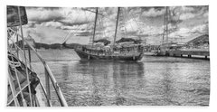 Beach Towel featuring the photograph Setting Sail by Howard Salmon