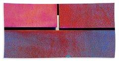 Seven Eight Nine - Colorful Rust - Magenta Blue Beach Sheet