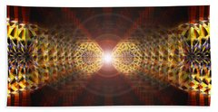Beach Towel featuring the drawing Seven Sacred Steps Of Light by Derek Gedney