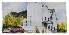 Seventh Day Adventist Church Beach Sheet by Sam Sidders