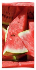 Several Pieces Of Watermelon Beach Towel